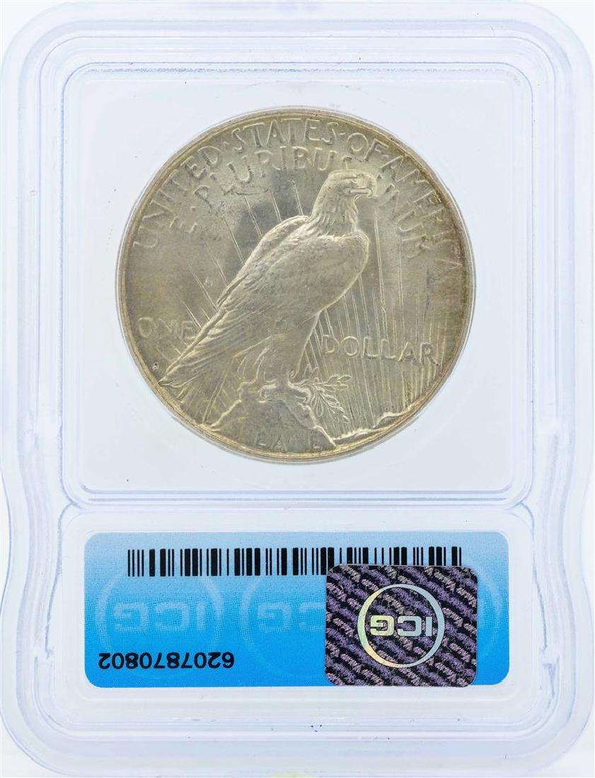 1924-S $1 Peace Silver Dollar Coin ICG MS64 - 2
