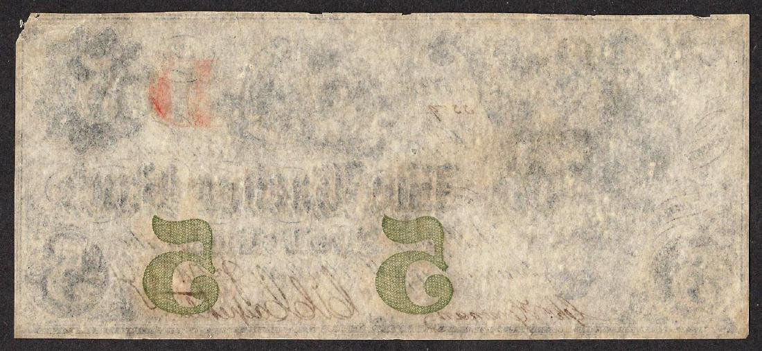 1861 $5 The Egg Harbor Bank Obsolete Note - 2