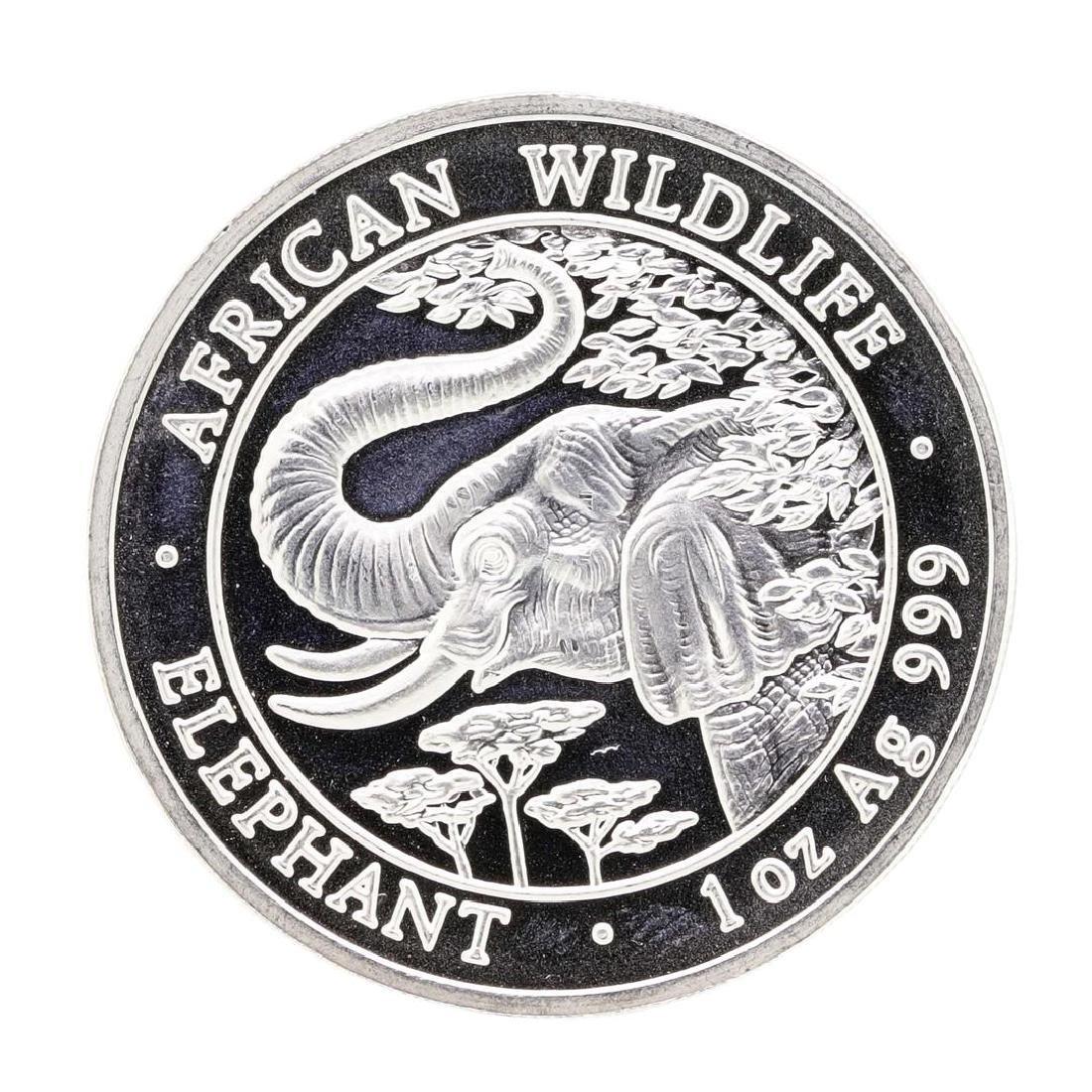 2005 1 oz. Silver Somalian African Elephant Coin