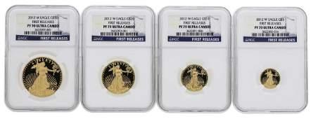 2012W American Gold Eagle Proof Set NGC PF70 Ultra