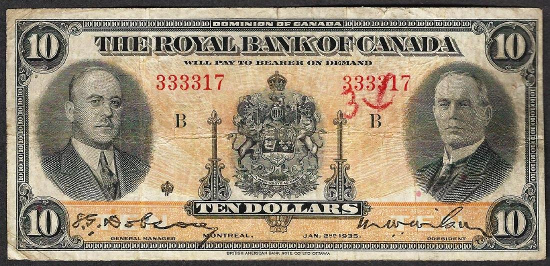 1935 $10 The Royal Bank of Canada Note