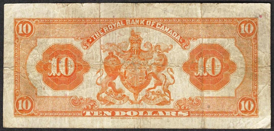 1935 $10 The Royal Bank of Canada Note - 2
