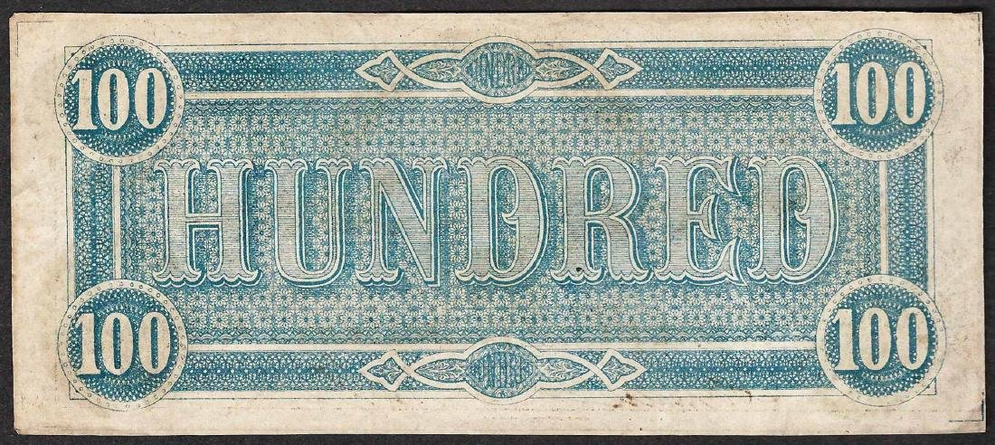 1864 $100 Confederate States of America Note - 2