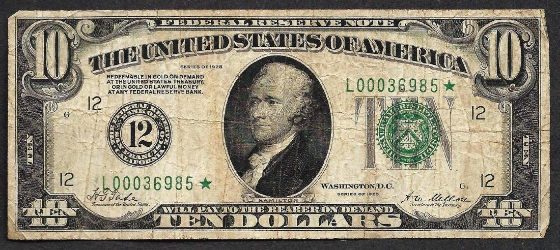1928 $10 Federal Reserve STAR Note