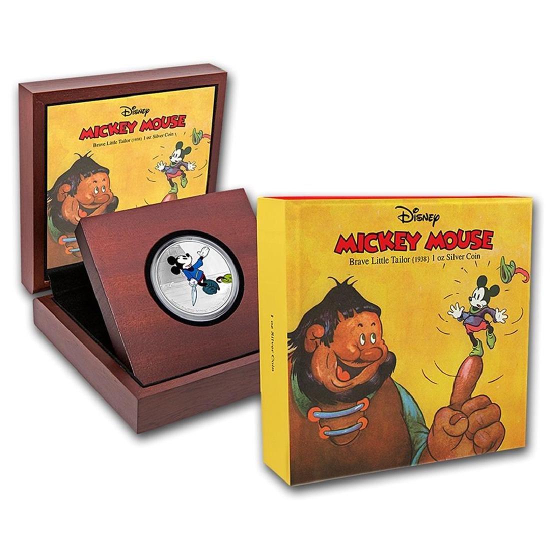 2016 $2 Disney Mickey Brave Little Tailor .999 Fine - 3