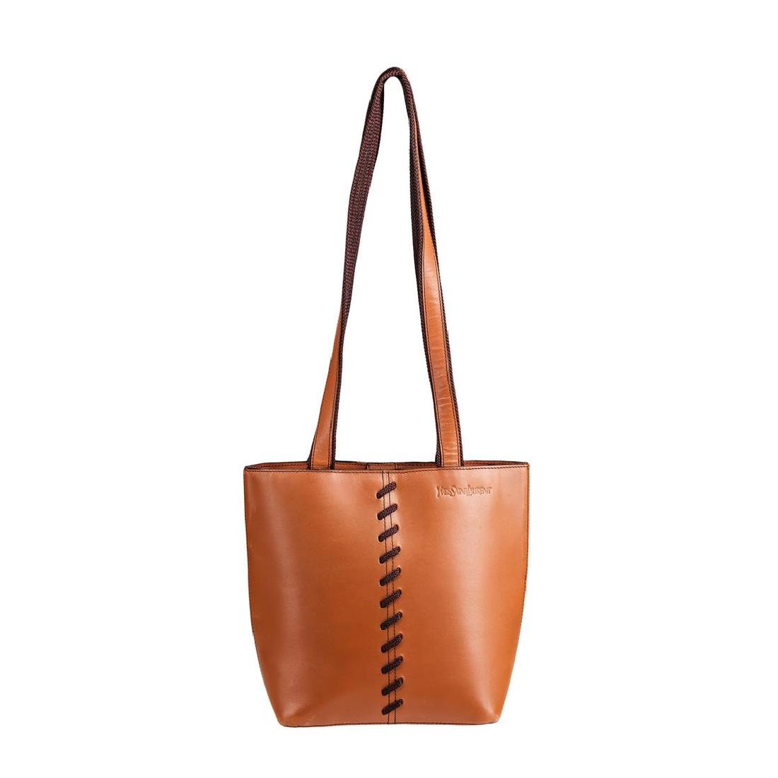 Yves Saint Laurent Brown Leather Bag