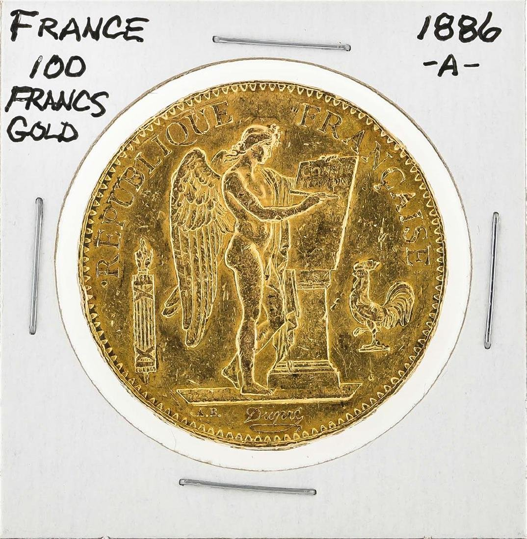 1886-A France 100 Francs French Angels Gold Coin