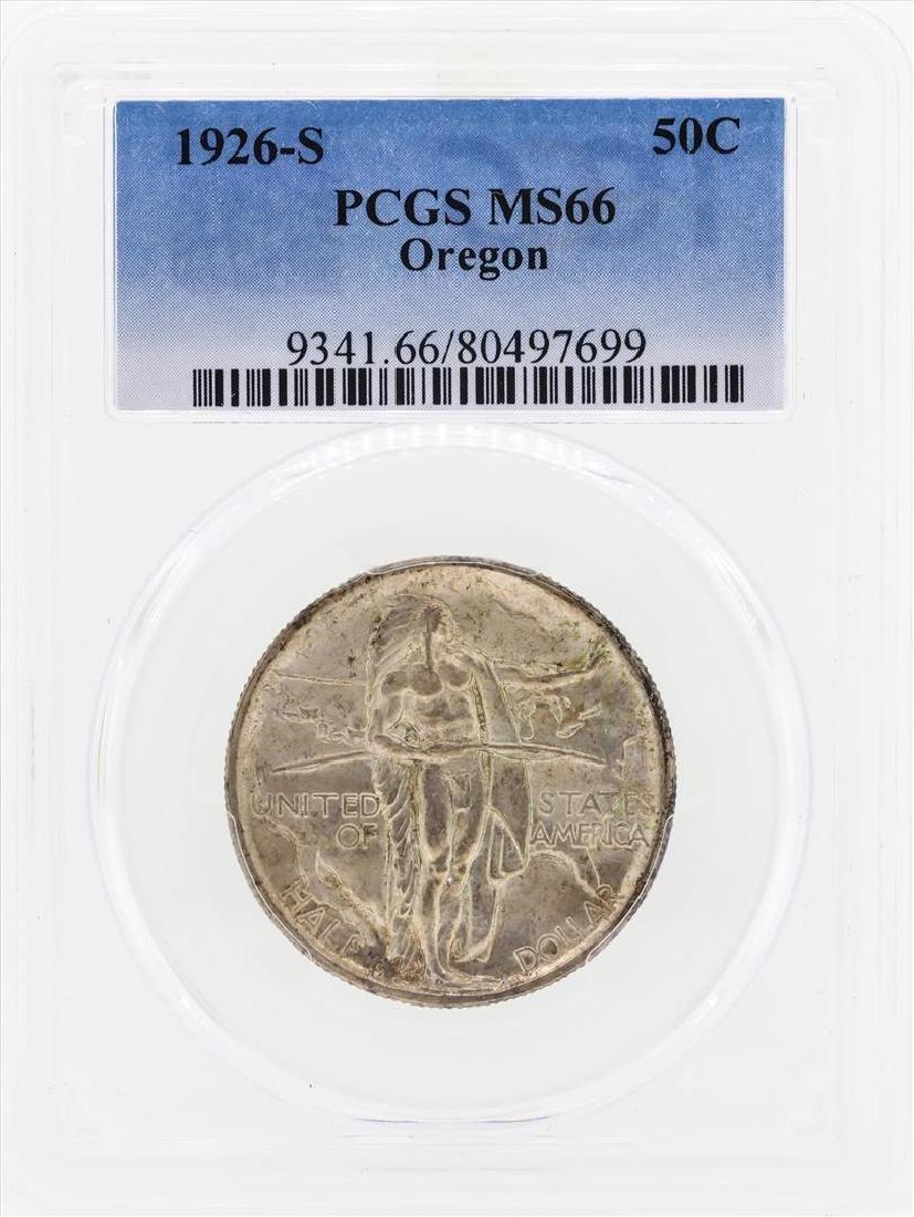 1926-S Oregon Commemorative Half Dollar Coin PCGS MS66