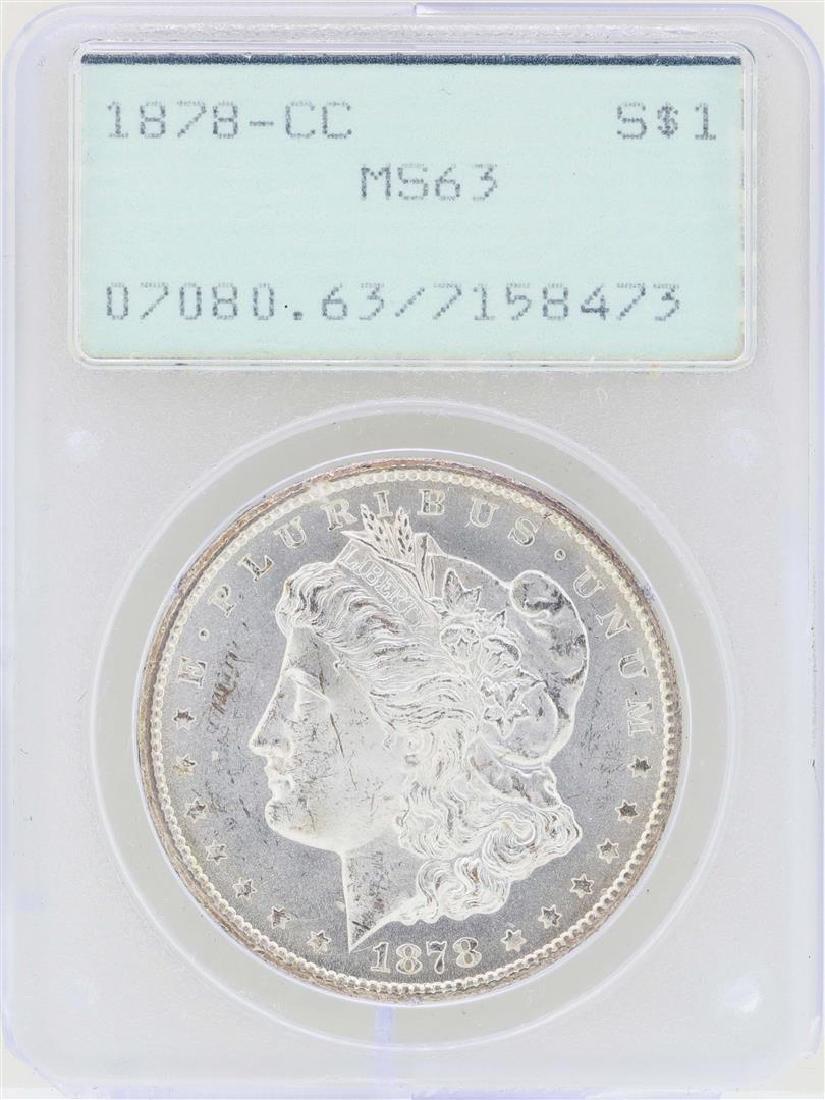 1878-CC $1 Morgan Silver Dollar Coin PCGS MS63