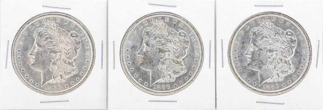 Lot of (6) 1888-O $1 Morgan Silver Dollar Coins