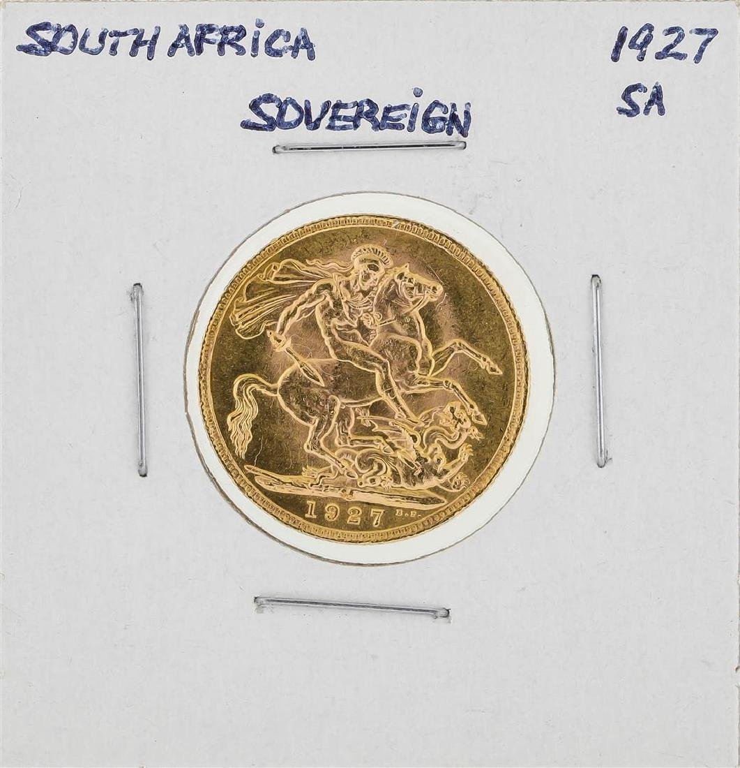 1927 South Africa Sovereign Gold Coin