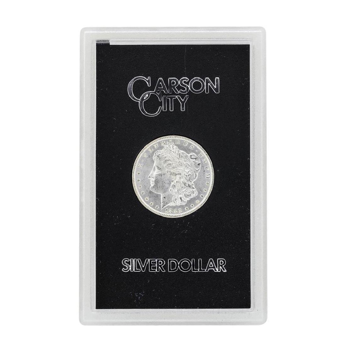 1882-CC $1 Morgan Silver Dollar Coin GSA w/ Box & COA