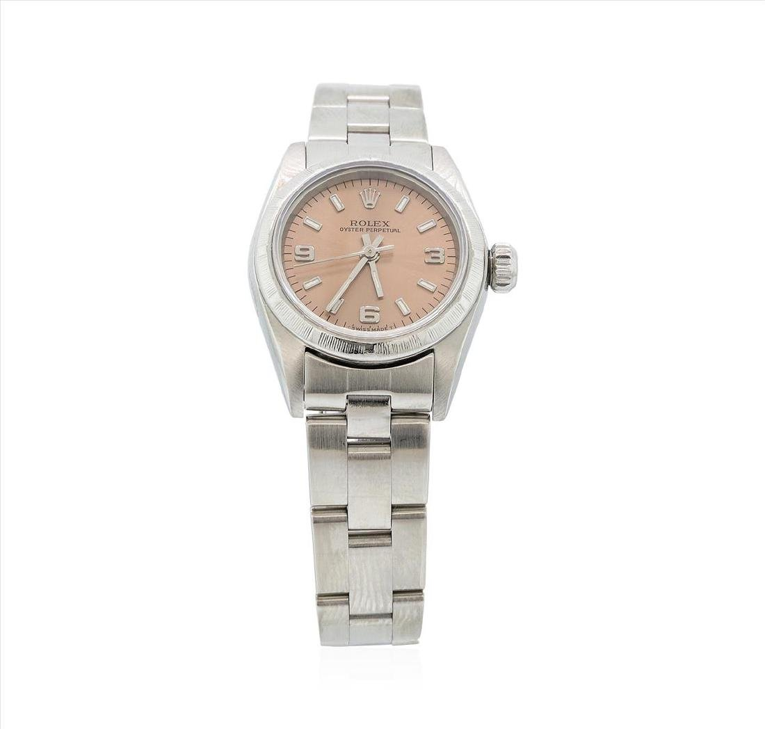 Rolex Stainless Steel Oyster Perpetual Ladies