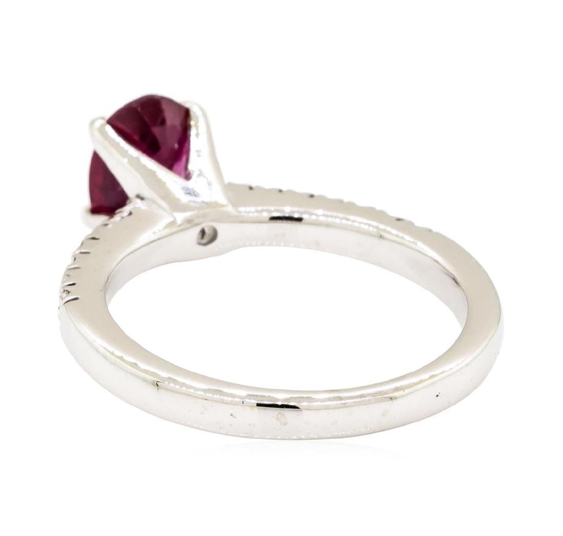 14KT White Gold 1.49 ctw Ruby and Diamond Ring - 3