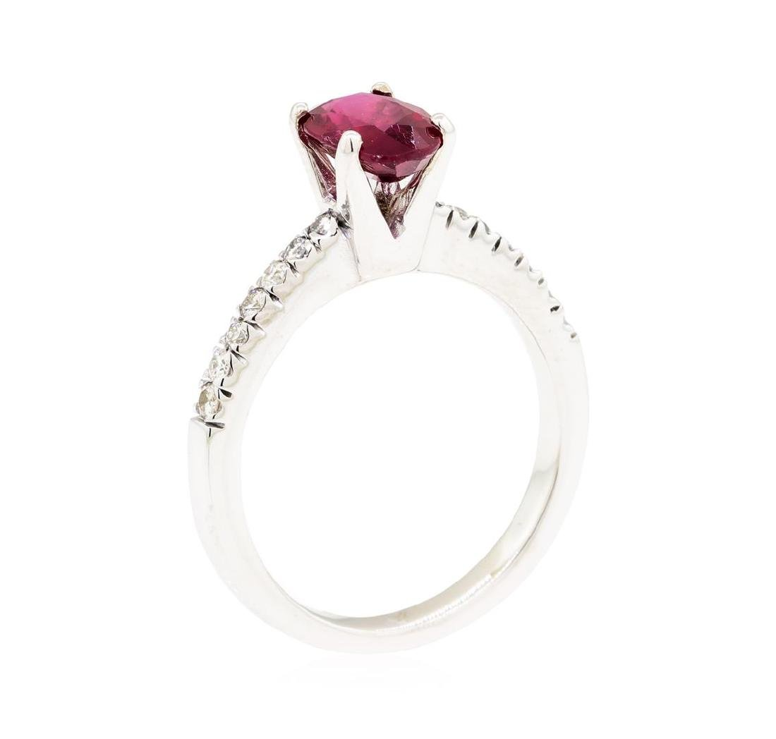 14KT White Gold 1.49 ctw Ruby and Diamond Ring - 4