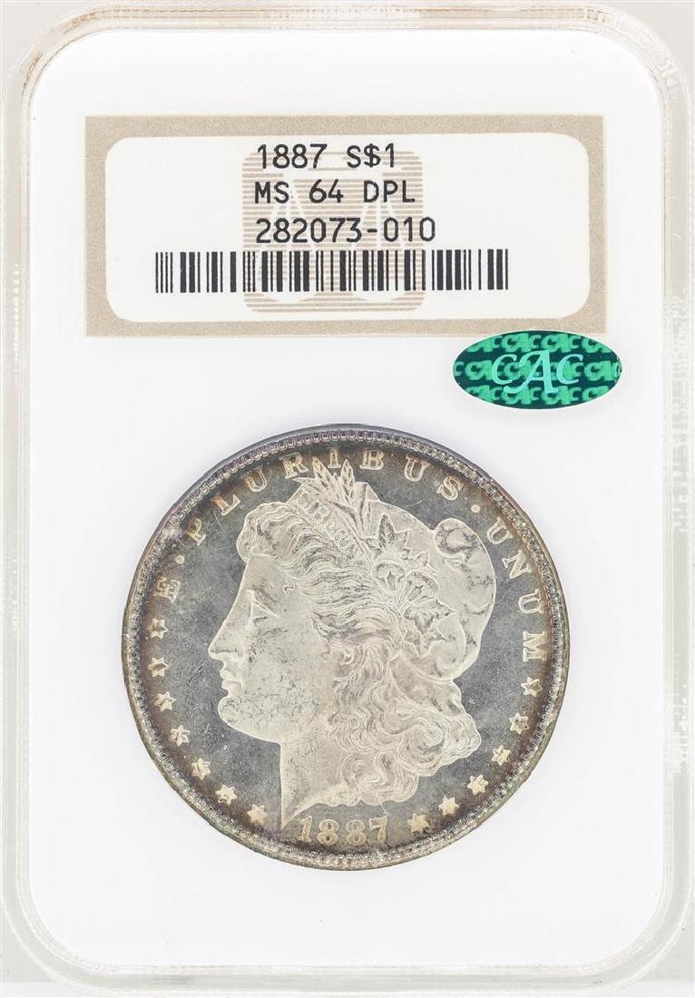 1887 $1 Morgan Silver Dollar Coin NGC MS64DPL CAC