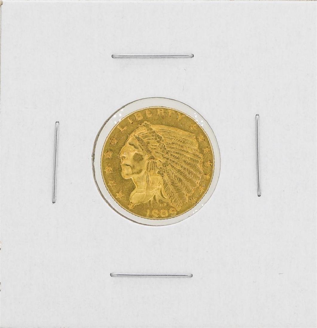 1909 $2 1/2 Indian Head Quarter Eagle Gold Coin