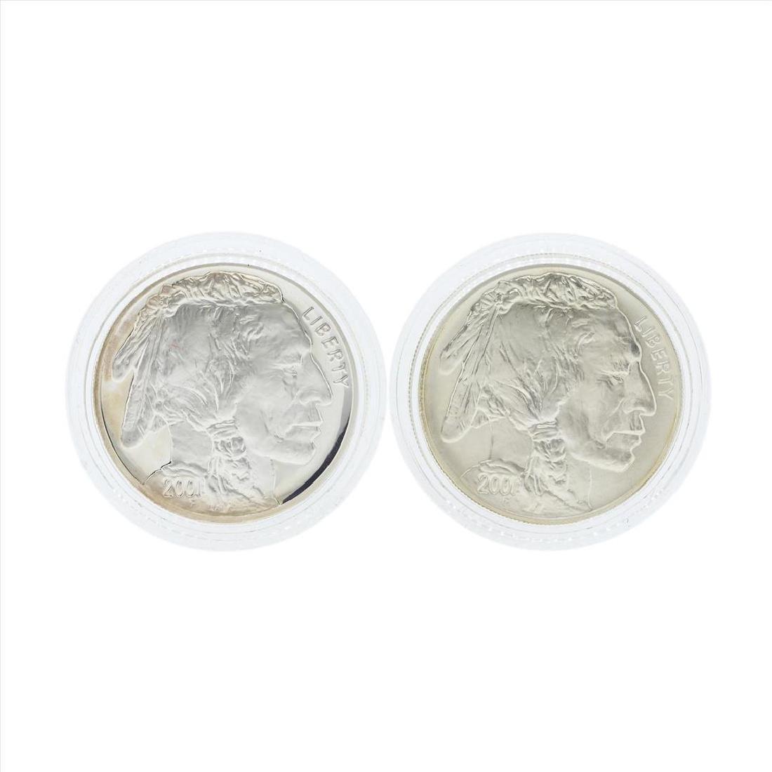Set of (2) 2001 $1 American Buffalo Commemorative