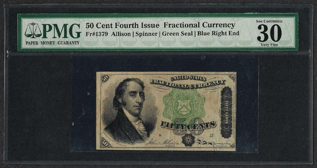 March 3, 1863 Fourth Issue 50 Cent Fractional Currency