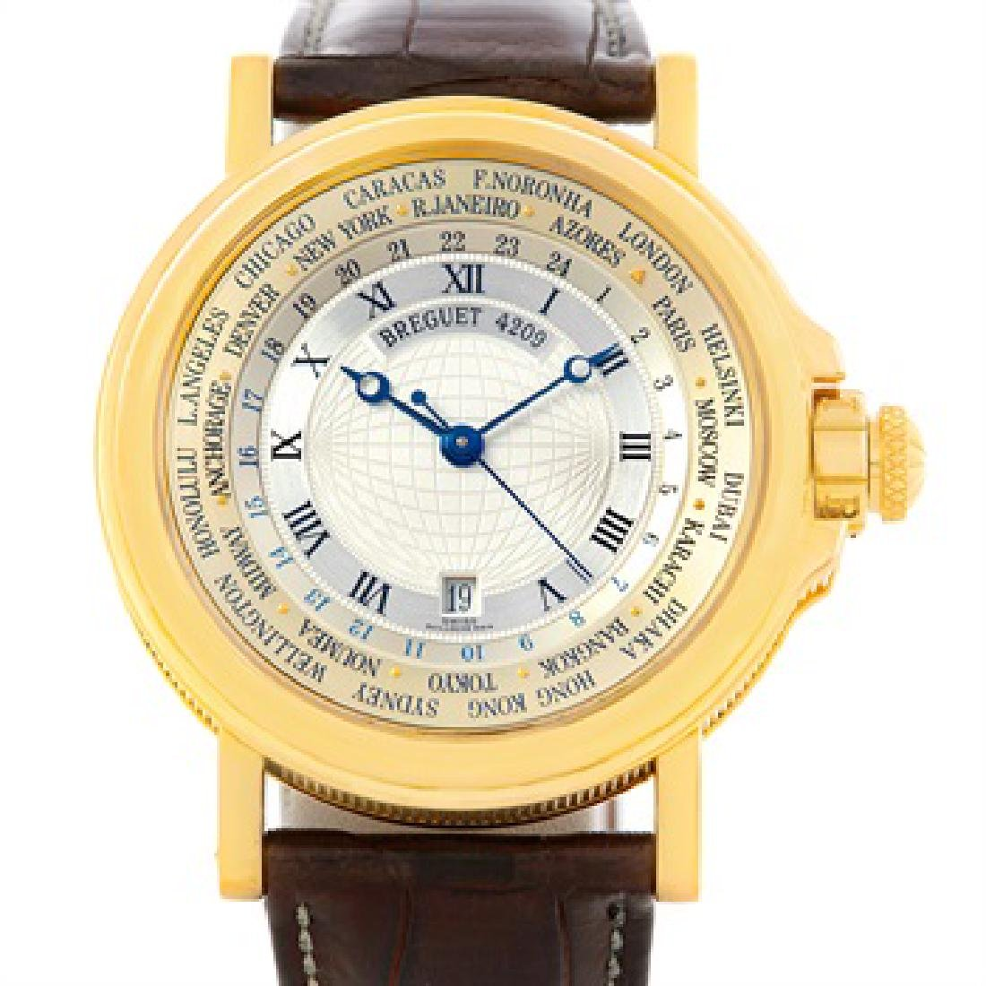 Breguet Marine World Time Hora Mundi 18K Yellow Gold