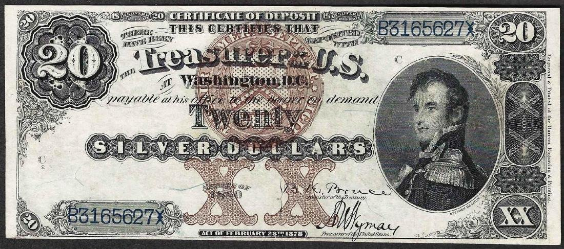 1880 $20 Decatur Silver Certificate Note