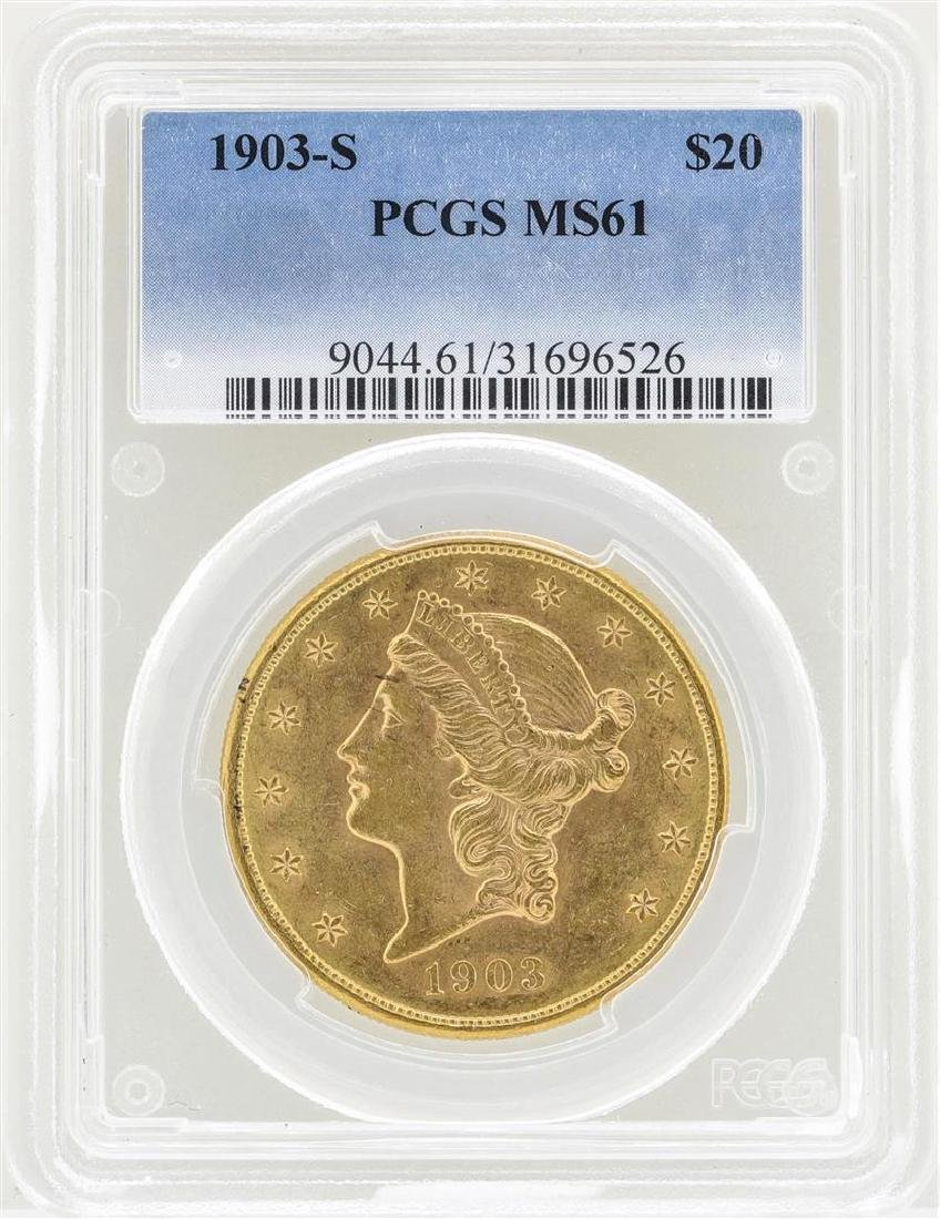 1903-S $20 Liberty Head Double Eagle Gold Coin PCGS