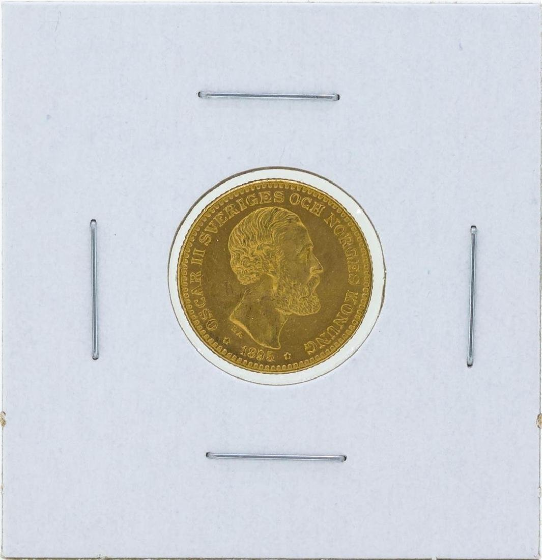 1895 Sweden 10 Kronor Gold Coin