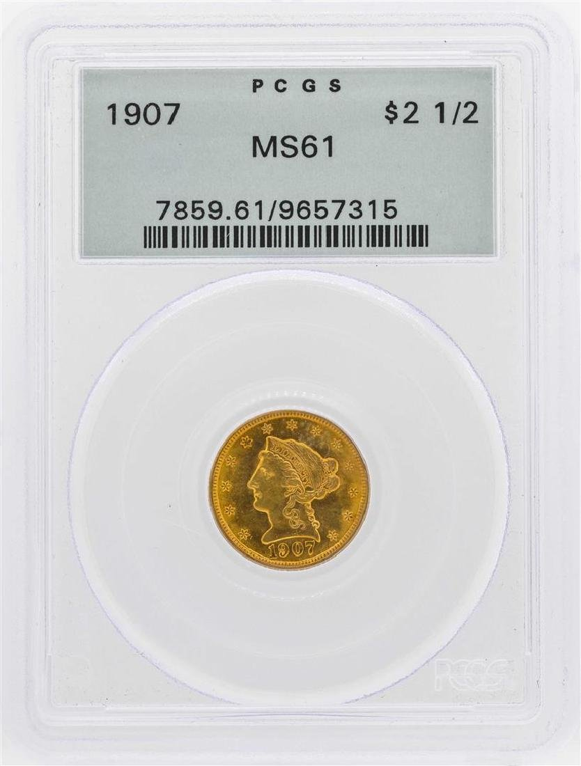1907 $2 1/2 Liberty Head Quarter Eagle Gold Coin PCGS