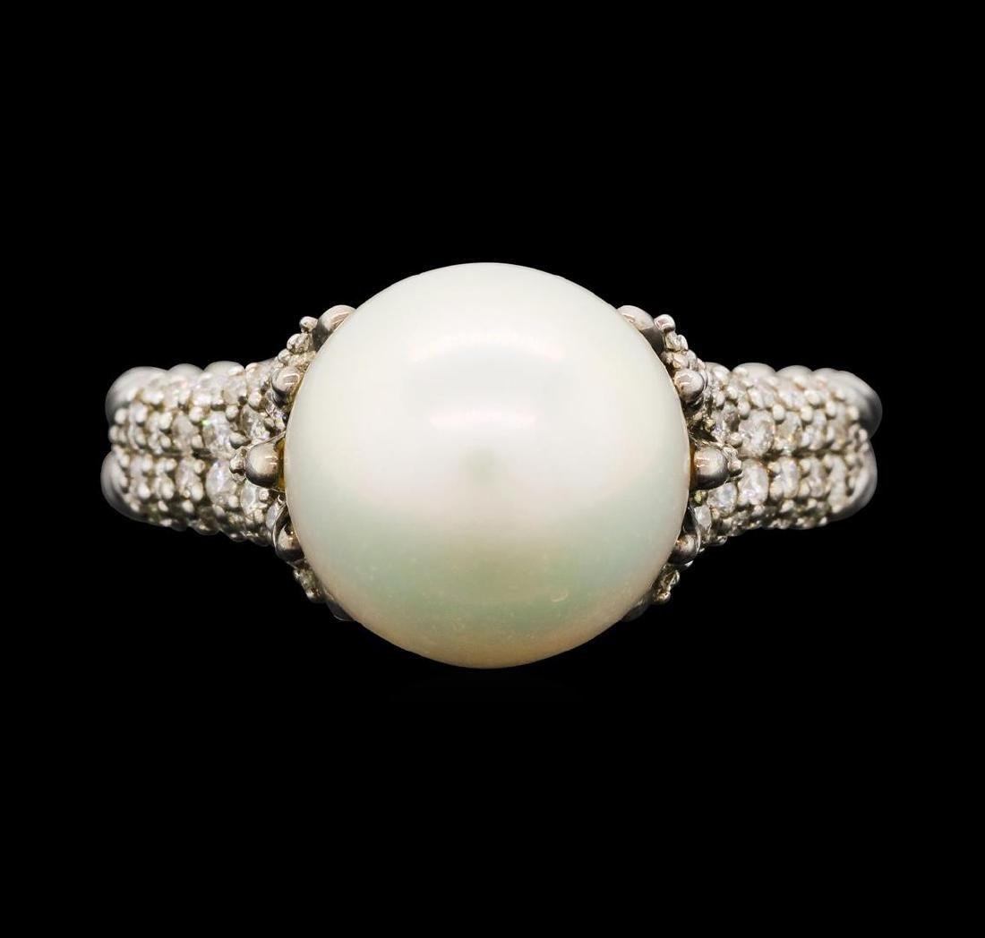 David Yurman .925 Silver 0.40 ctw Diamond and Pearl