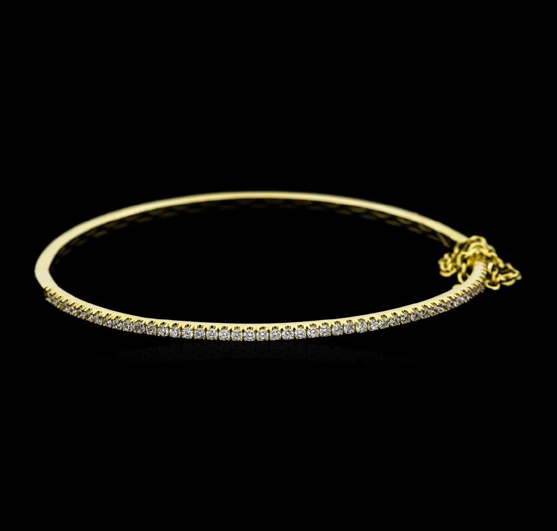 14KT Yellow Gold 1.00 ctw Diamond Bangle Bracelet with