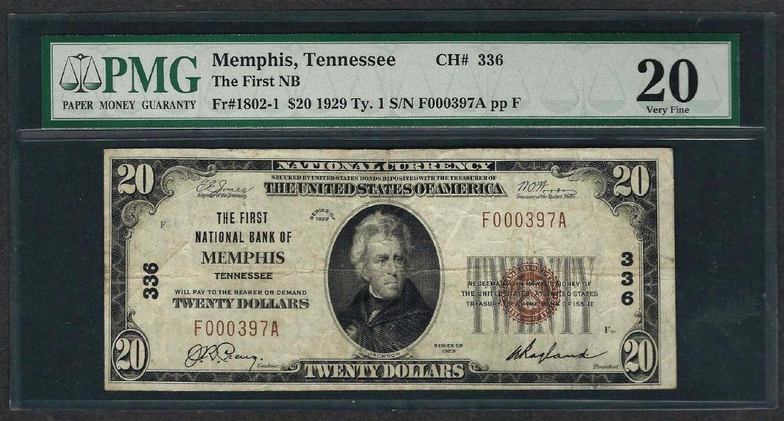 1929 $10 National Currency Note Memphis, Tennessee CH#