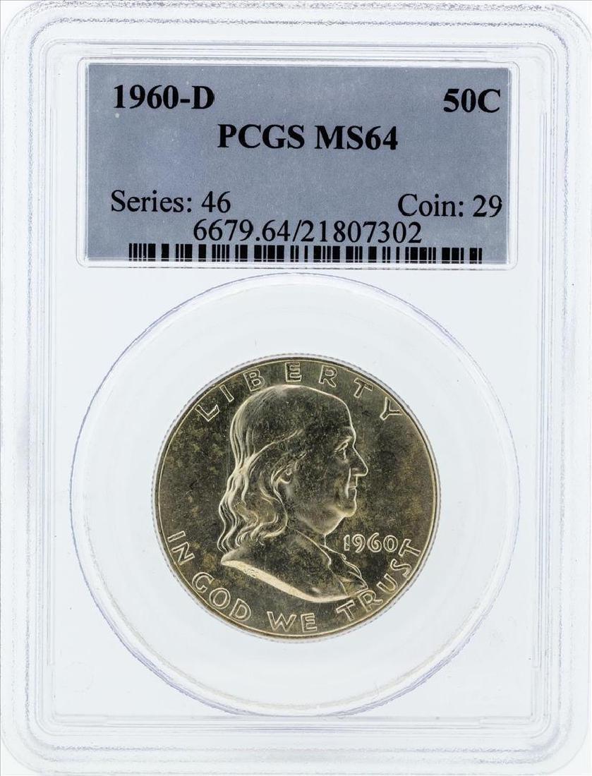 1960-D Franklin Silver Half Dollar Coin NGC MS64