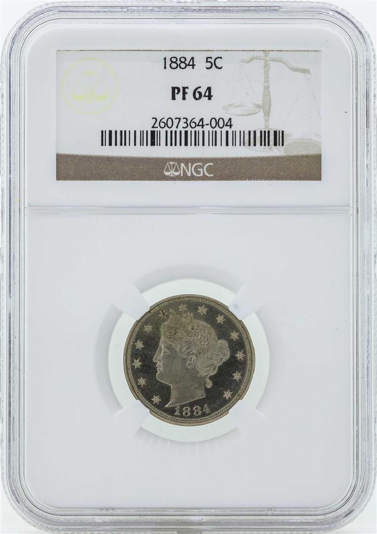 1884 Liberty V Proof Nickel Coin NGC PF64