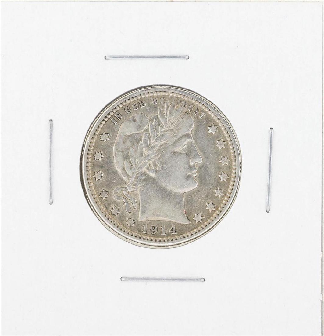 1914-D Barber Quarter Silver Coin