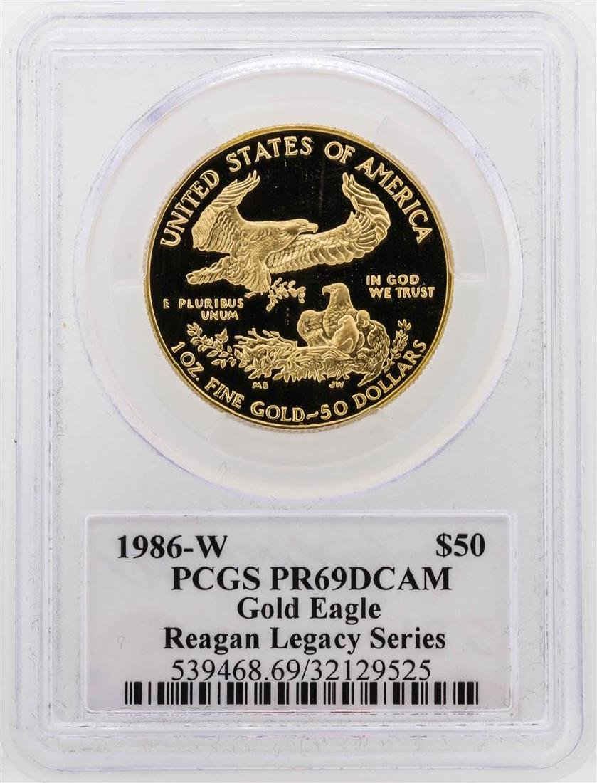 1986-W $50 American Gold Eagle Proof Coin PCGS PR69DCAM