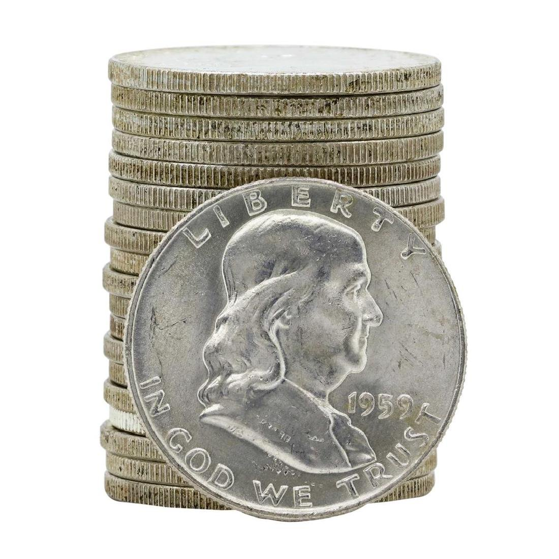 Roll of (20) 1959-D Brilliant Uncirculated Franklin