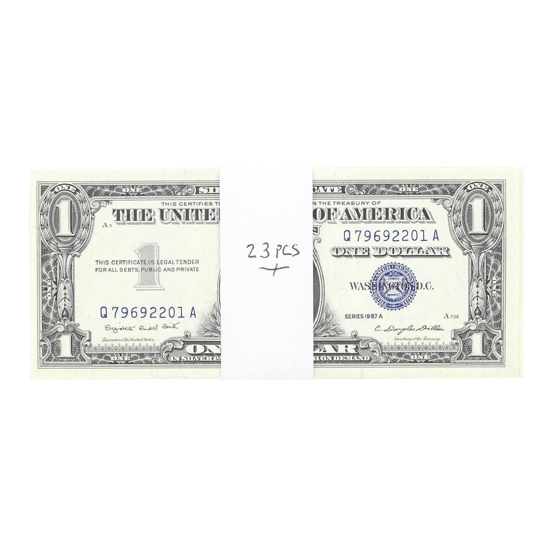 Lot of (23) Consecutive 1957A $1 Silver Certificate