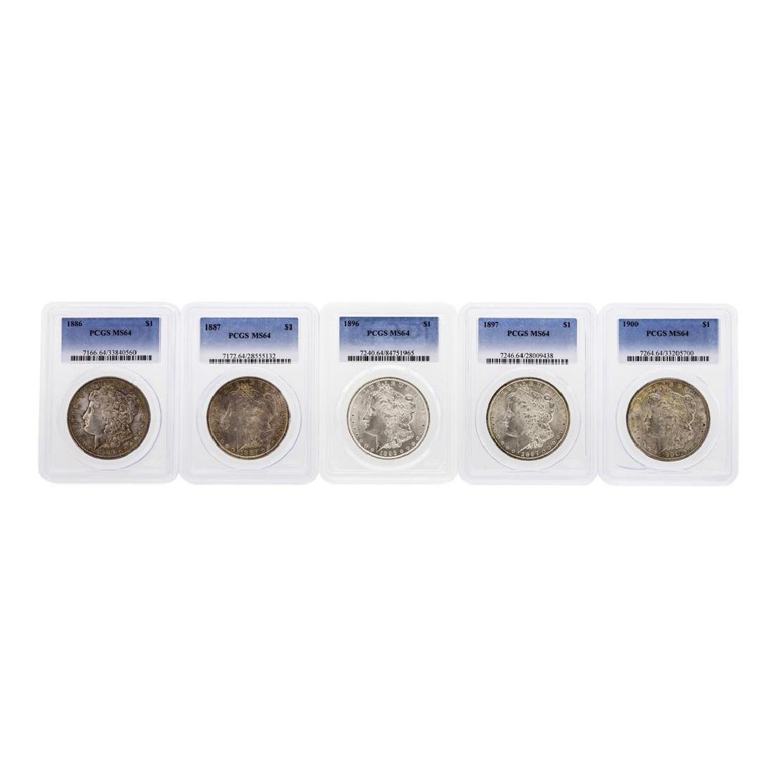 Lot of (5) Assorted Philadelphia Mint $1 Morgan Silver