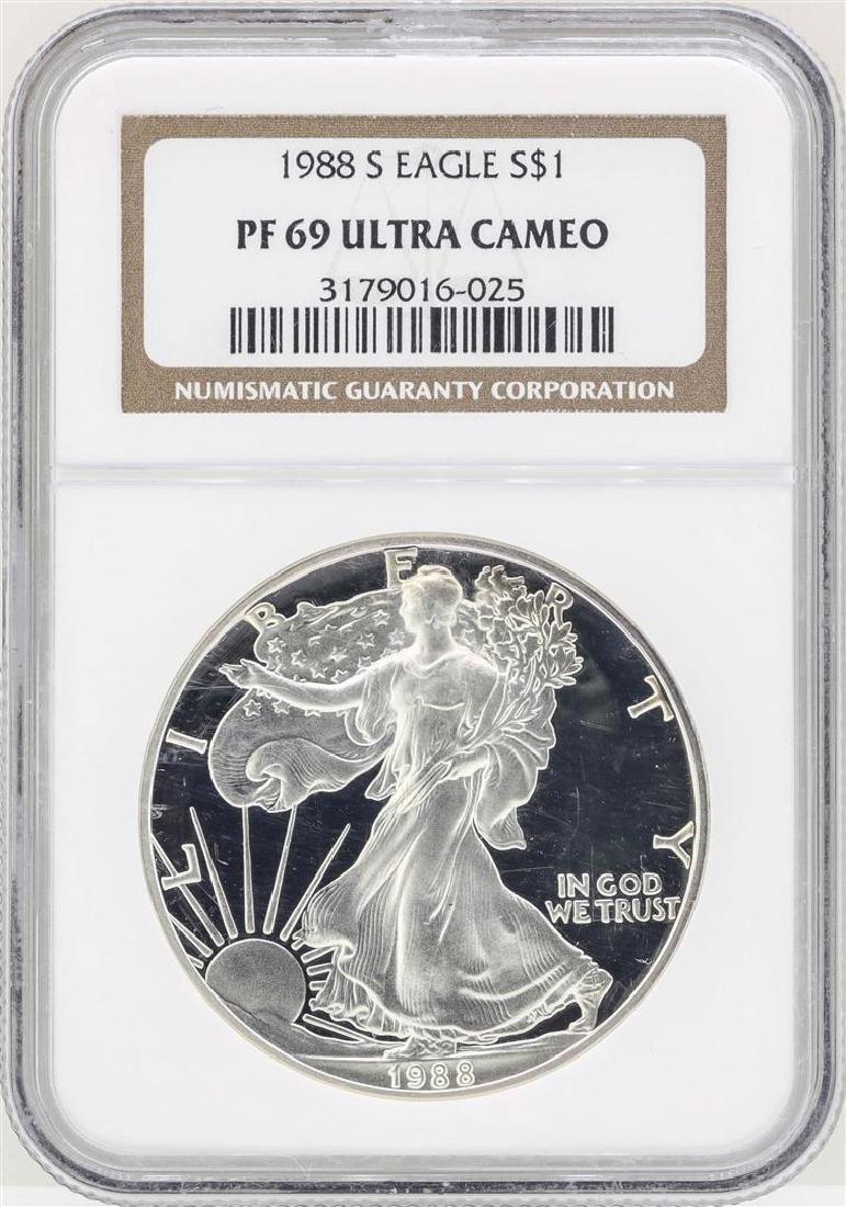 1988 $1 American Silver Eagle Coin NGC PF69 Ultra Cameo