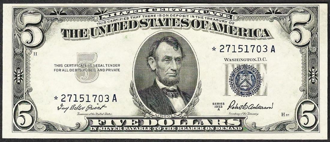 1953A $5 Silver Certificate STAR Note