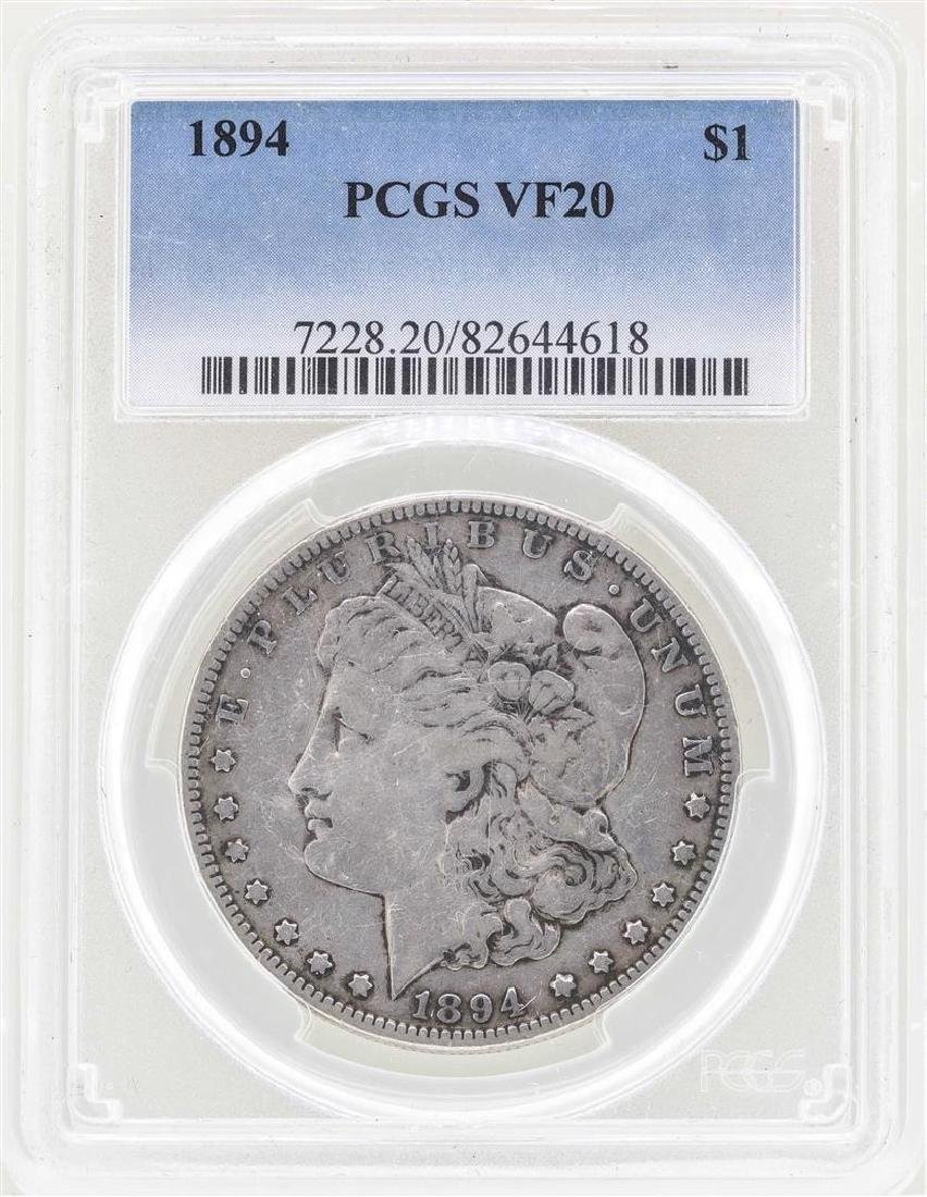 1894 $1 Morgan Silver Dollar Coin PCGS VF20