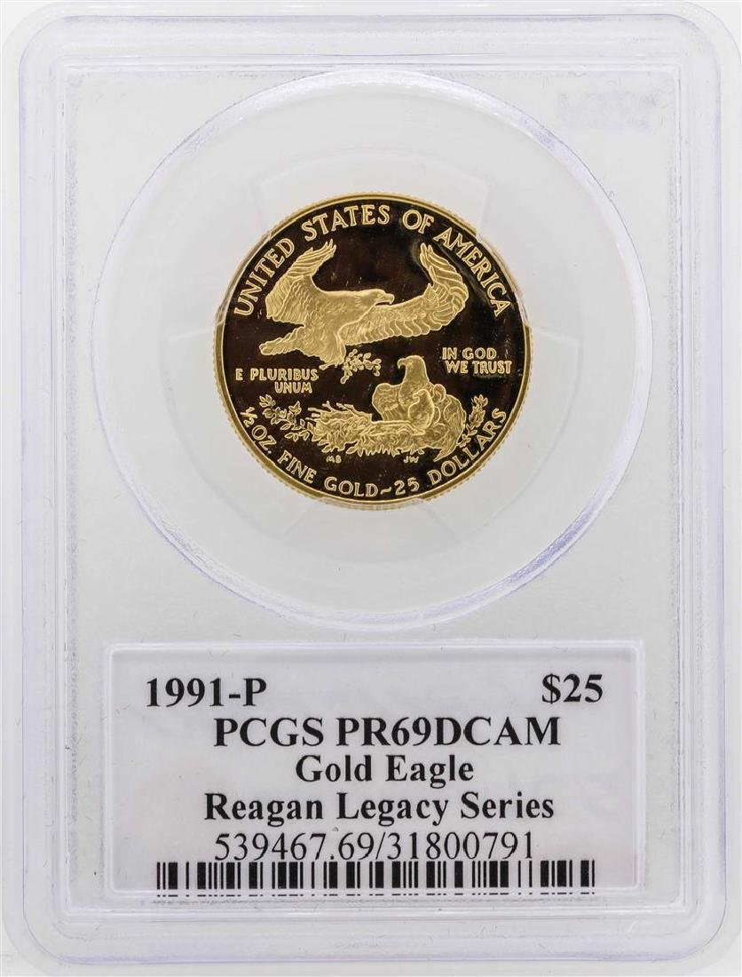 1991-P $25 American Gold Eagle Proof Coin PCGS PR69DCAM