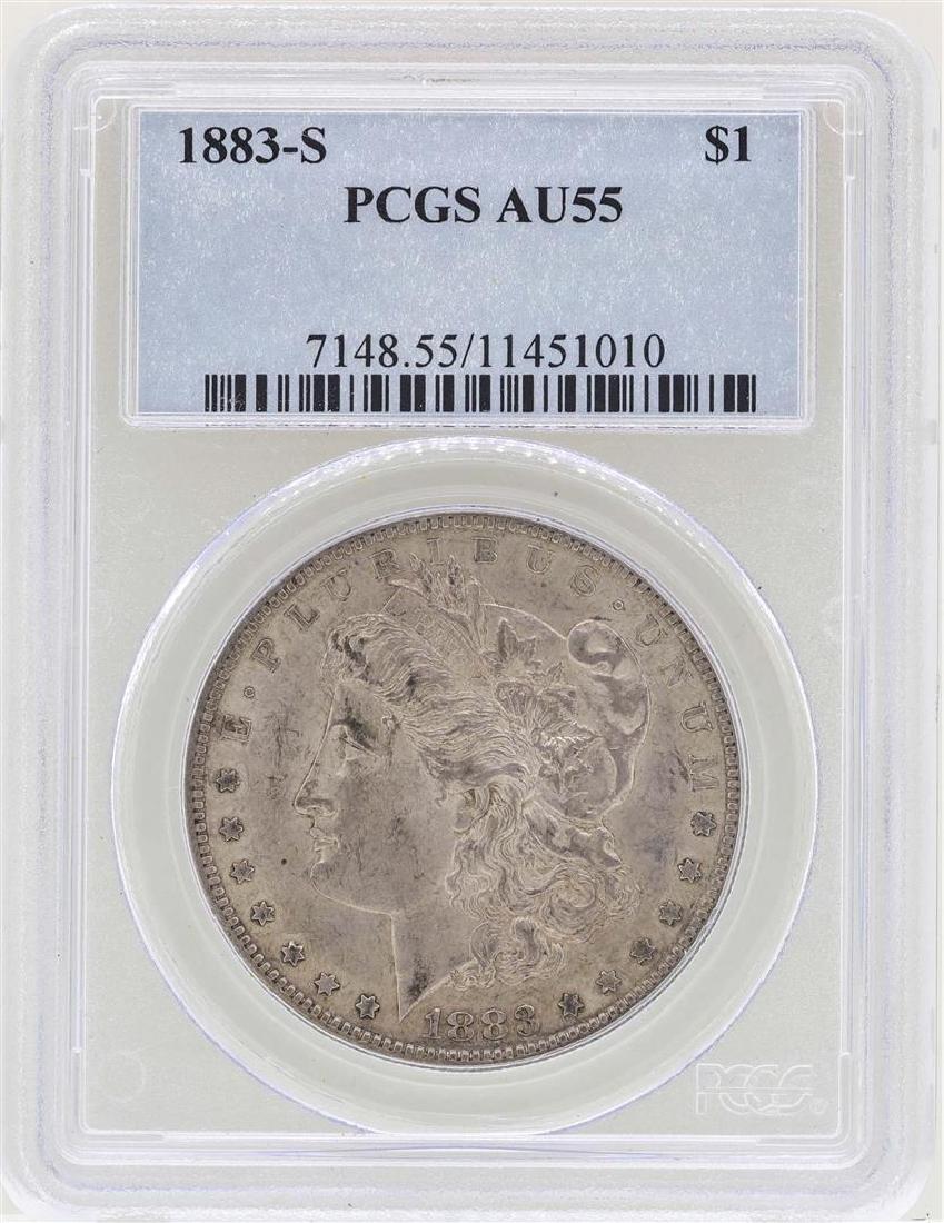 1883-S $1 Morgan Silver Dollar Coin VAM 6 PCGS AU55