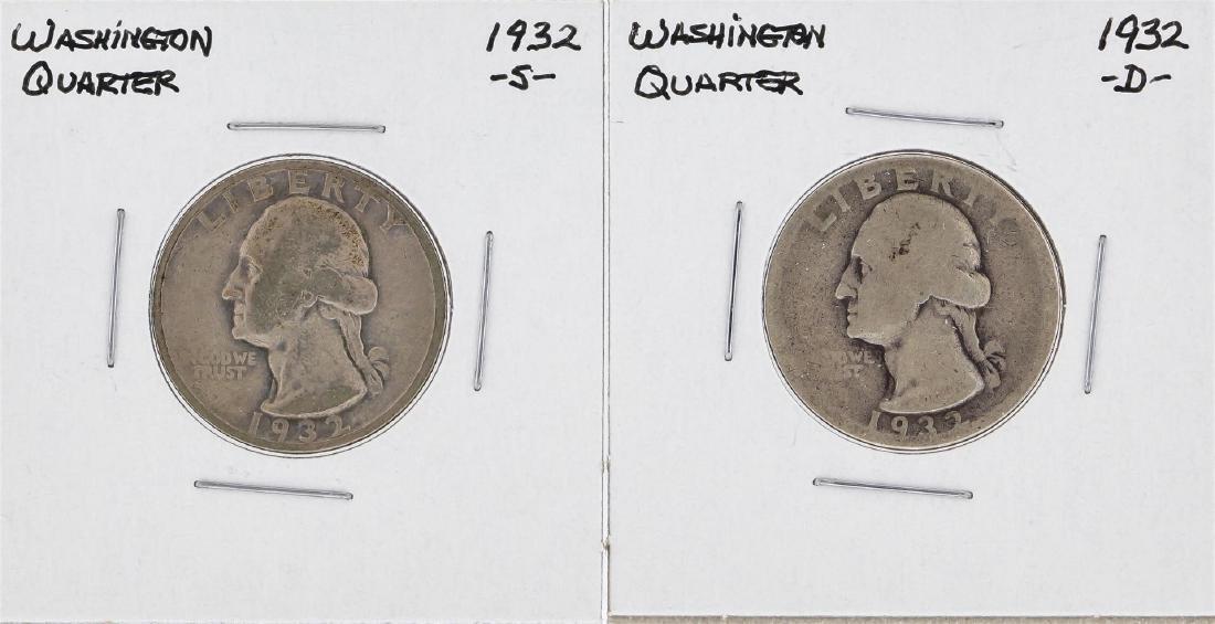 1932-S & 1932-D Washington Silver Quarter Coins