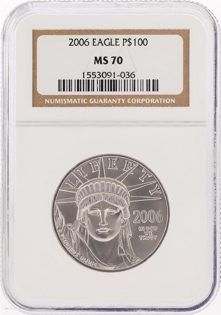 2006 $100 American Platinum Eagle Coin NGC MS70