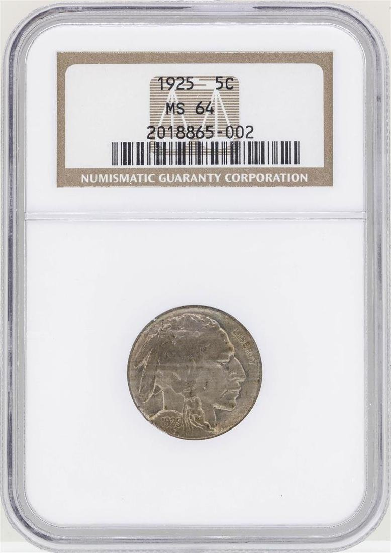 1925 Buffalo Nickel Coin NGC MS64