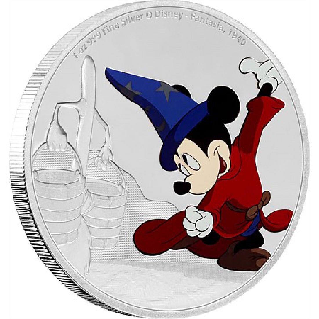 2017 1 oz Silver $2 Mickey Through the Ages: Fantasia
