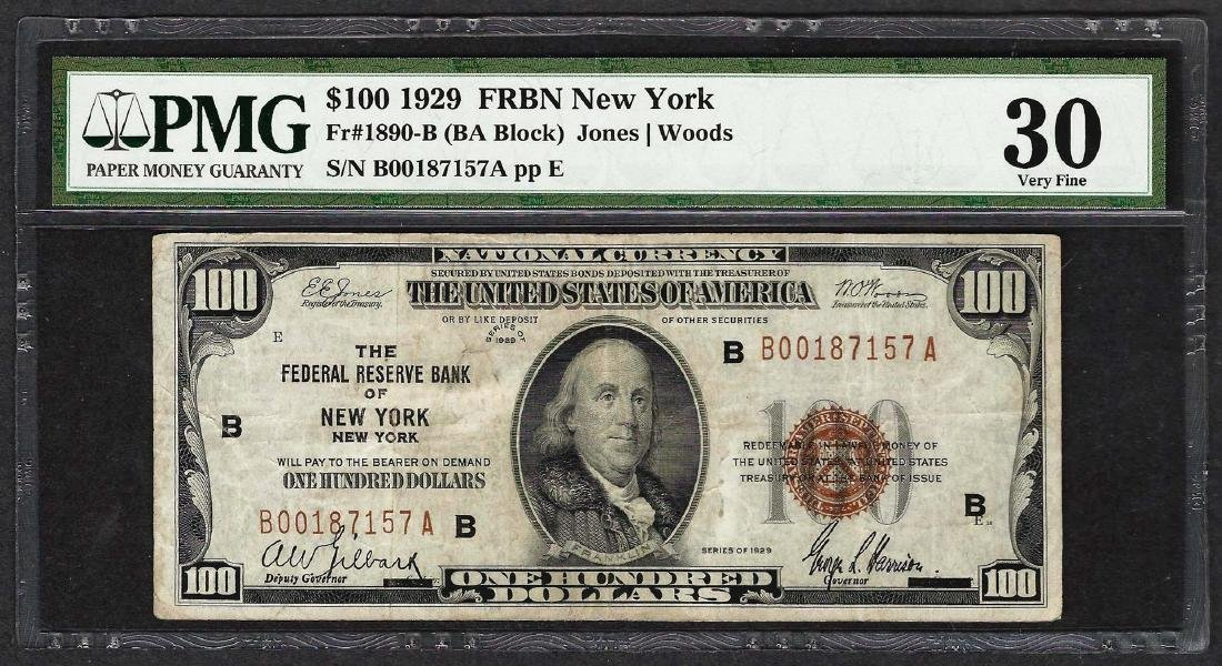 1929 $100 Federal Reserve Bank of New York Fr.1890-B