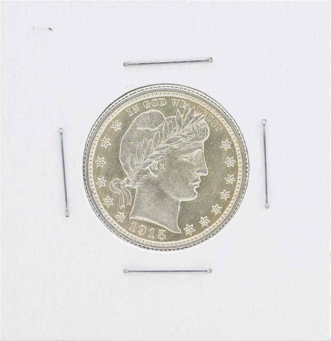 1915 Barber Quarter Silver Coin