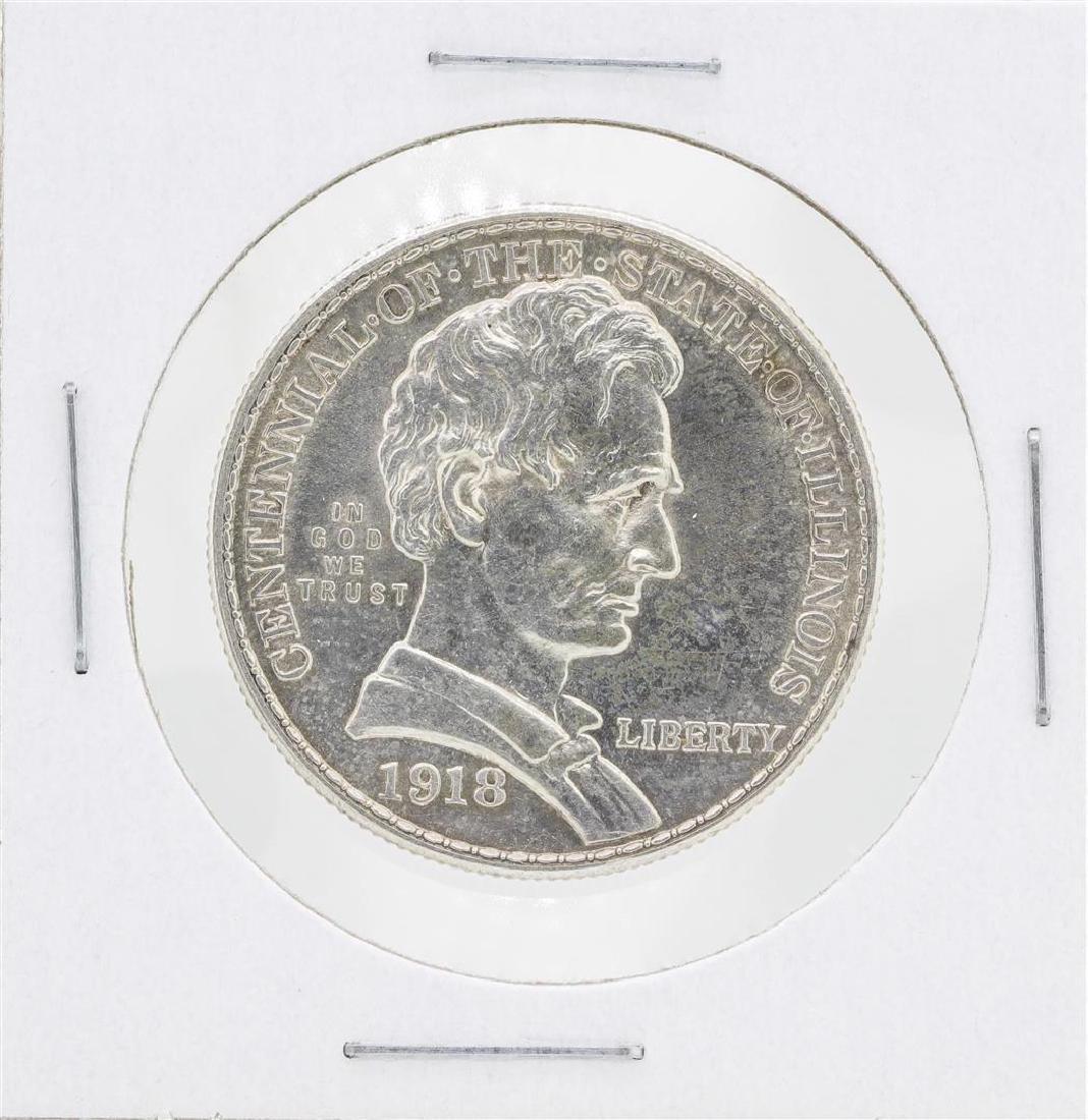 1918 Lincoln Illinois Centennial Commemorative Half